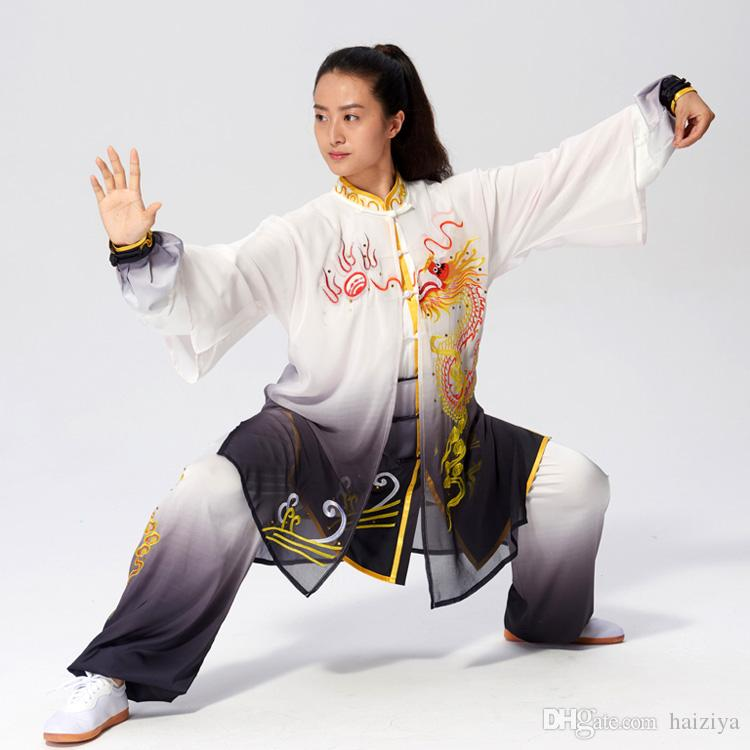 Chinese Tai chi clothes Kungfu uniform Taijiquan competition garment embroidery Qigong kimono for women men girl boy children adults kids