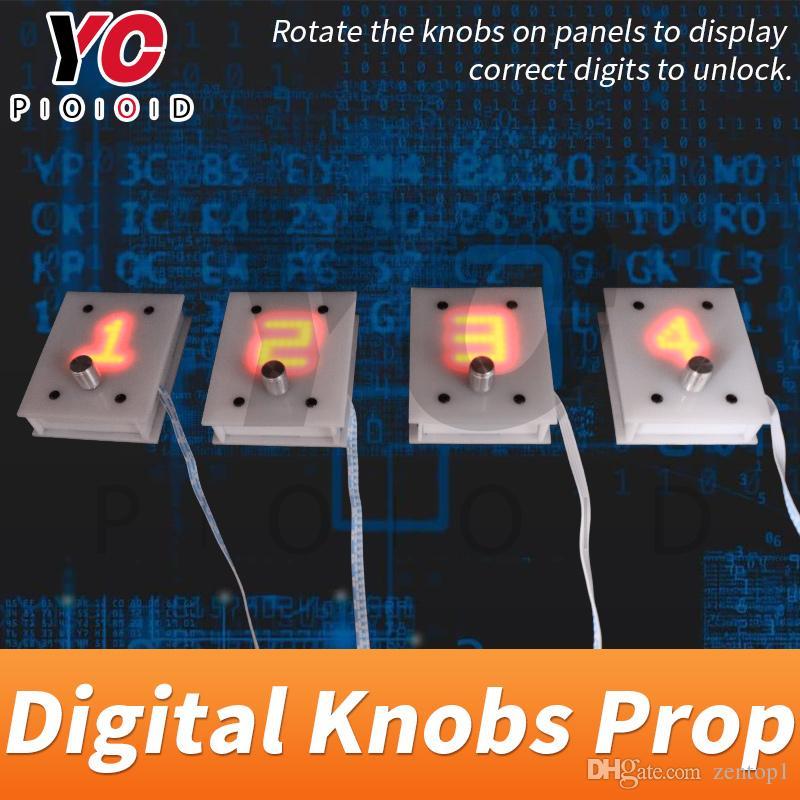 YOPOOD Digital Knobs Prop игровая комната побега поверните металлическую ручку в нужном количестве, чтобы открыть камеру поставщика