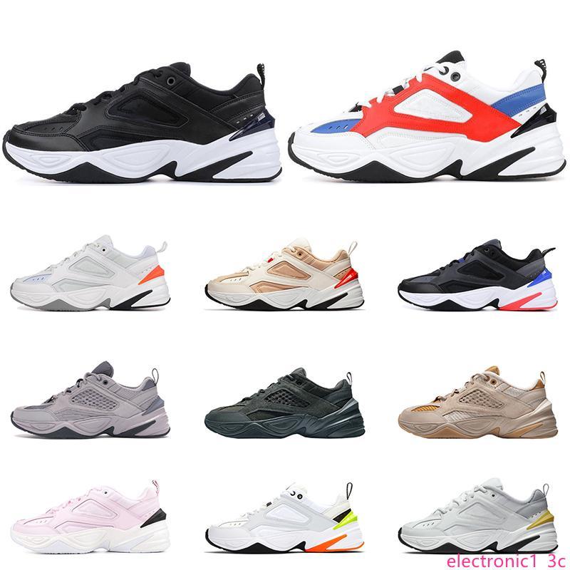 2020 nueva llegada M2K Tekno las zapatillas para hombre las mujeres blancas de platino puro Negro Volt rosa negro zapatillas blancas deportes zapatillas de deporte tamaño 36-45