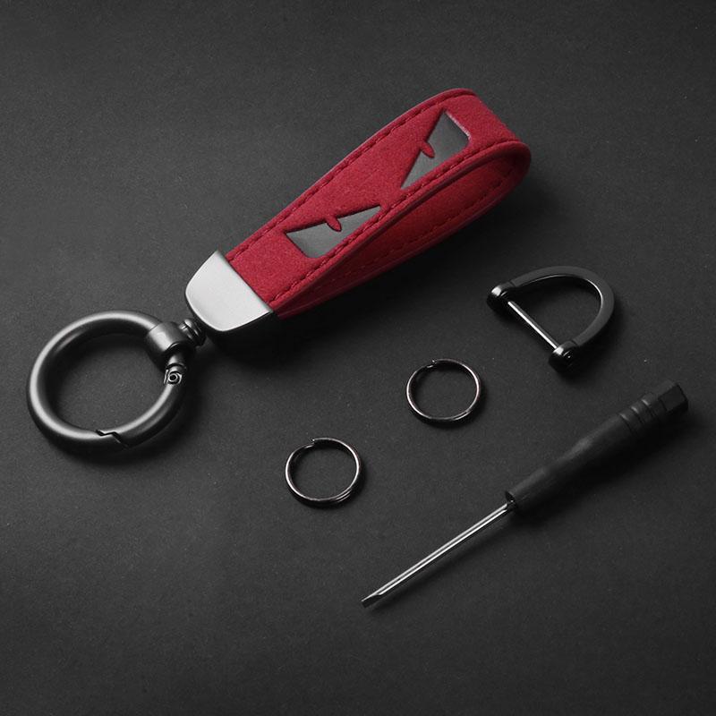 Alta Calidad Llaveros Clave hebilla pequeño monstruo Modelo hecho a mano llavero de cuero con estilo clave de la hebilla 3 opciones de color