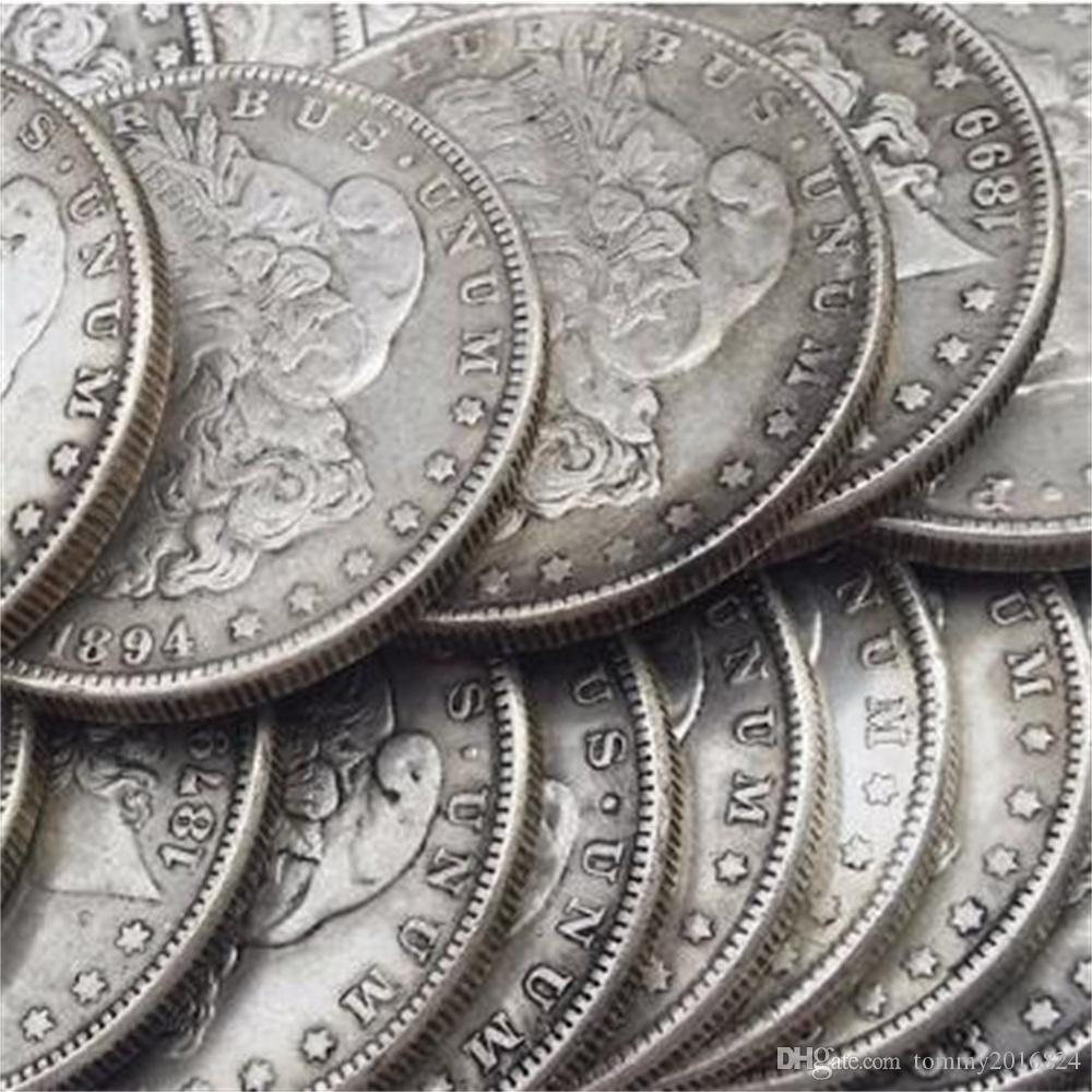"26pcs Morgan Dollars 1878-1921 ""O"" Date differenti DATE DIVERS MINTIMARK Placcato argento copia monete Metal Craft Dies Manufacturing Factory Prezzo"