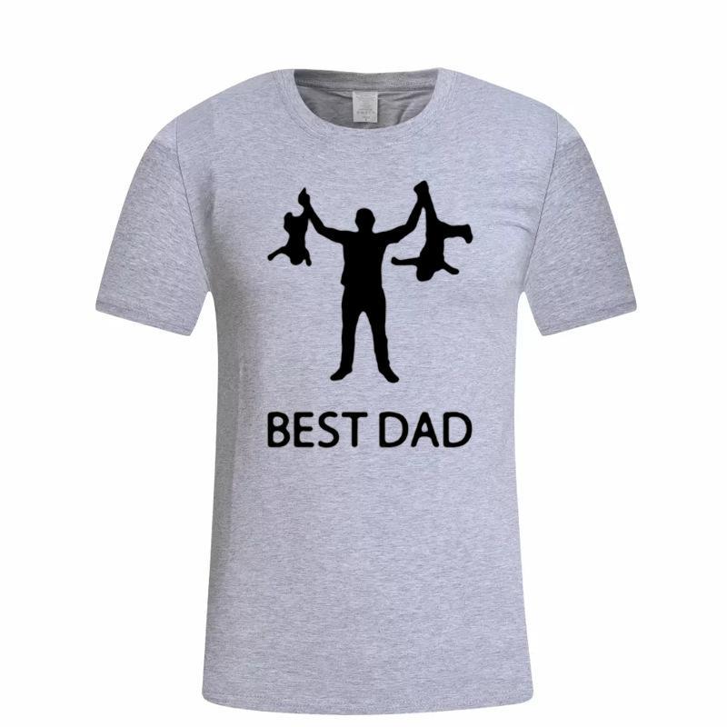 Дизайнер лучший папа футболка забавный дизайн День отца футболка мода хлопок мода подарок футболки тройники
