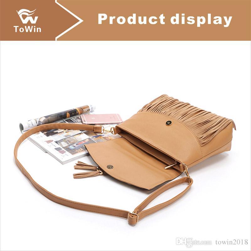 Brand New Único Sacos de Ombro PU de Couro de Luxo Bolsas Carteira de Alta Qualidade Para O Saco Das Mulheres Designer de Saco Do Mensageiro Saco Crossbody Sling Bag