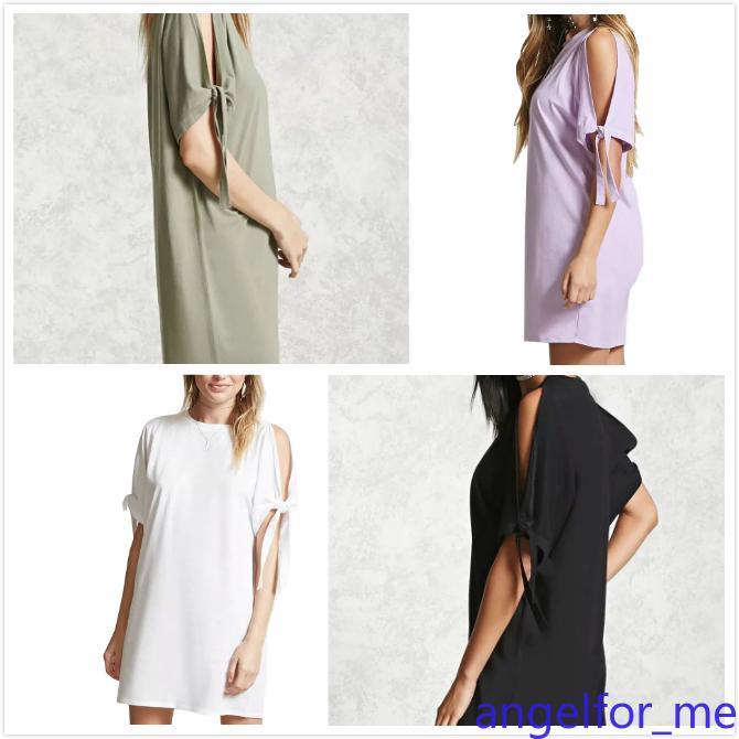 Las nuevas camisetas de mujer de verano empalmadas mangas cortas