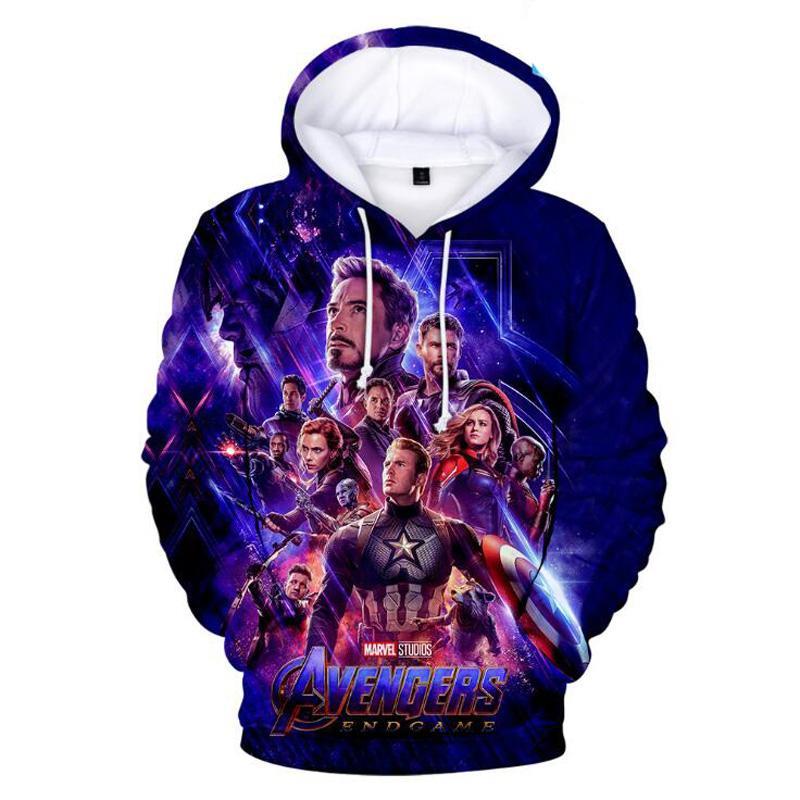 Yetişkin Çocuklar Avengers Endgame Kuantum Diyar Süper Kahraman Cosplay Kazak Marvel Sonu Oyunu 3D Hoodie Ceket Anime Giyim