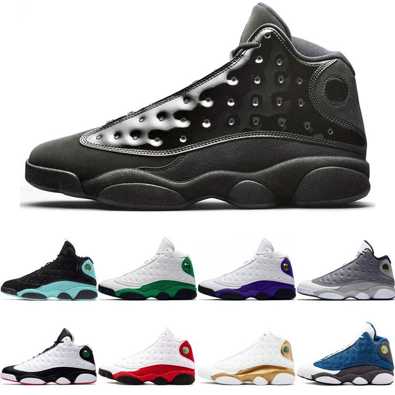 Top OG casquillo y del vestido 13 13s Jumpman Celtics Isla Verde Zapatos baloncesto de los hombres Lakers Rivals Una mala jugada Chicago deporte zapatilla de deporte de Formadores