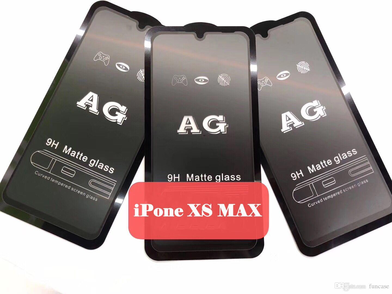 Schermo AG Matte 9H curvo vetro temperato Pellicola protezione iPhone Per 11 Pro esplosione Max XS XR X 8 7 6 6S Inoltre copertura completa Premium