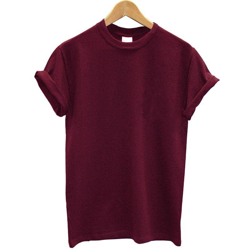 Femmes Arrivée Chemise et t-shirt Nouveau Vêtements Femelle Solide T Coton Été Cool Men Streetwear 100% Femme Tees Tops Dnide