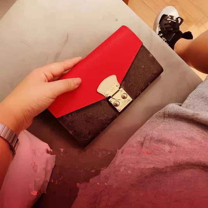 Nueva edición de Han Monedero restauración de las maneras antiguas Mujer largo de impresión en color Joker bloqueo del teléfono Bump tarjeta BaoChao para la cartera de la mujer de la alta calidad