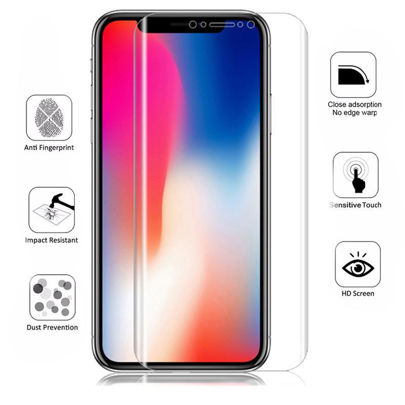 Screen Protector Полное покрытие Clear Soft TPU Пленка прозрачная защитная пленка Гидрогель для iPhone XS MAX XR X 8 7 Samsung S10 S9