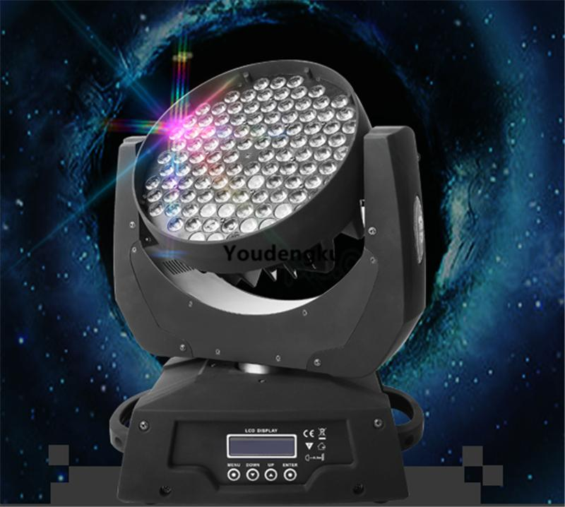 6pcs 108x3w RGBW 4in1 led moving head wash Party Stage Light led wash moving head