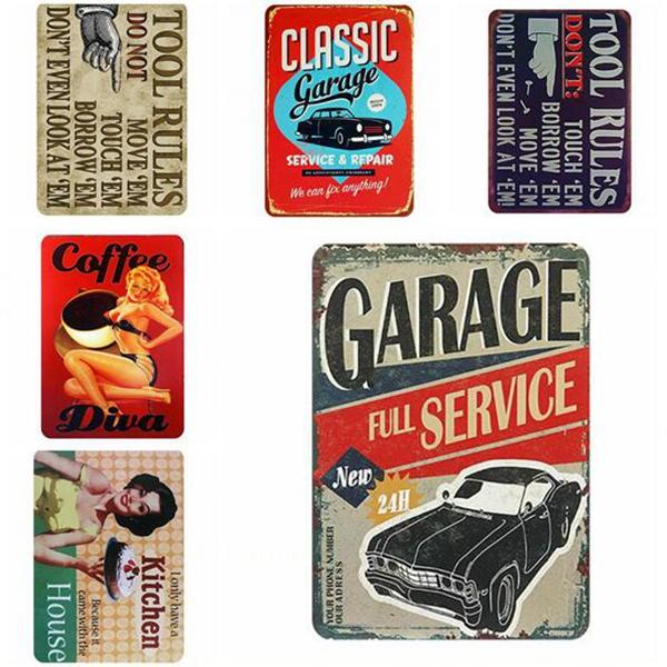 Notice Metal Signs Retro Warning Tin Signs Wall Poster Coffee Painting Bar Club Pub Garage Vintage Home Decor Wall 20*30cm Free Shipping