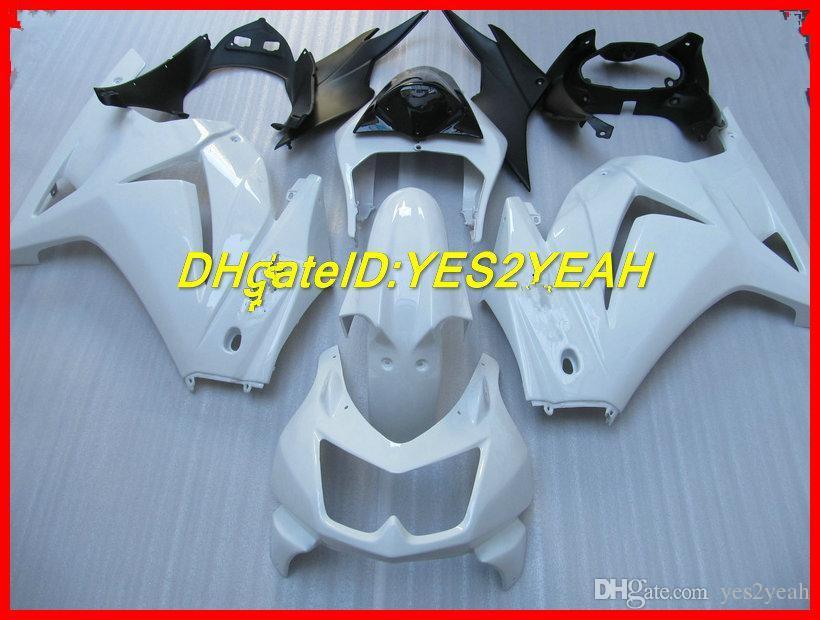 Kit de corpo de carenagem para KAWASAKI Ninja ZX250R 08 09 10 11 12 Carroçaria ZX 250R 2008 2012 EX250 conjunto de carenagens de injeção preto branco