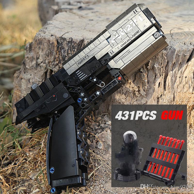 Sembo 704301 Technic Gun Shooting Signal pistolet Can Bullets feu des blocs de construction Briques Jouets pour enfants Cadeaux