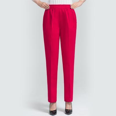Yeni Kadın Pantolon Orta Yaş Kadın Bürosu Lady Aşınma Yüksek Bel İnce Pantolon J564 için 2020 Boy 5XL Retro Düz Pantolon