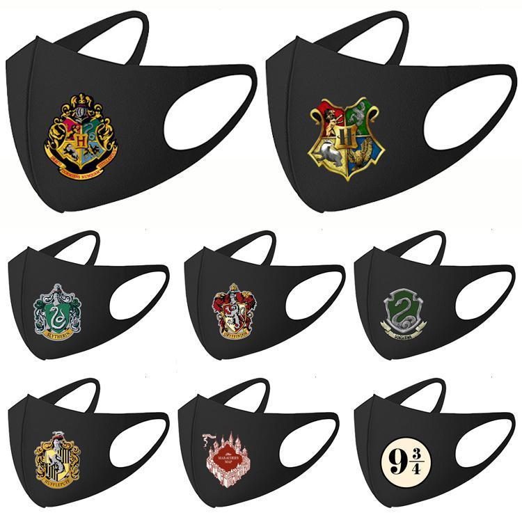 11 estilo Harry Potter Designer Máscara Hallowmas Fashion Party Anti poeira máscara facial PM2.5 Rosto cobrir a boca Cosplay JJ461 máscara
