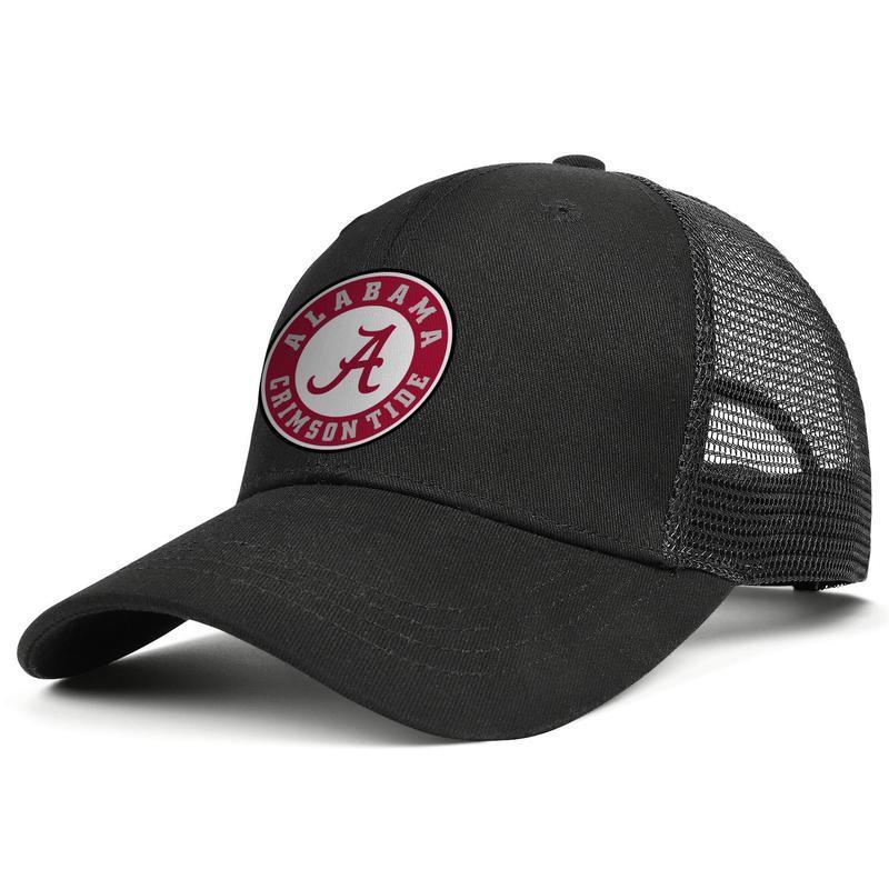 Americana Alabama logo mens neri e donne stili sfera protezione del camionista dell'annata su ordinazione cappelli di maglia Crimson Tide squadra primaria Alabama Elephant