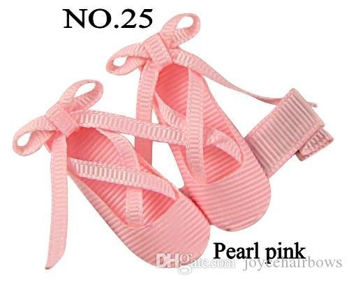 Free shipping 30pcs ballet ribbon slippers ballerina hair bows dance shoe hair clips