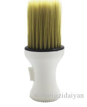 أداة خشبية مقابض حلاقة الرقبة فرشاة لينة الشعر الرقبة المنفضة فرشاة صالون أدوات تنظيف الشعر
