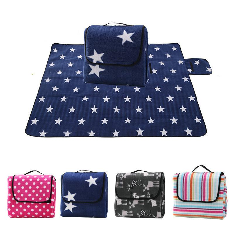 130*170cm Foldable Outdoor Camping Picnic Pad Baby Play Crawling Waterproof Beach Blanket Mat Q190603