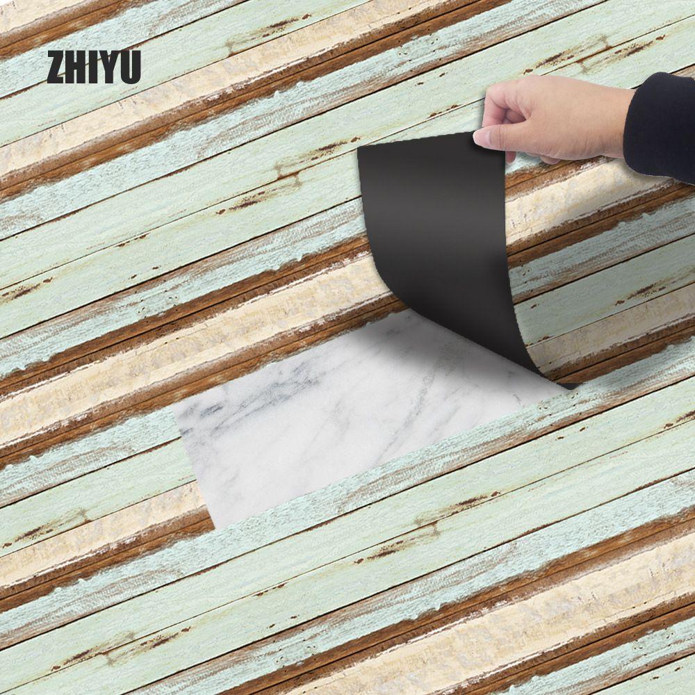 Thicken floor stickers 20 x 300 cm Self Adhesive PVC Vinyl Floor Tiles 3D Pattern Water-Proof Wall Sticker Home Decor EWF007 T200111
