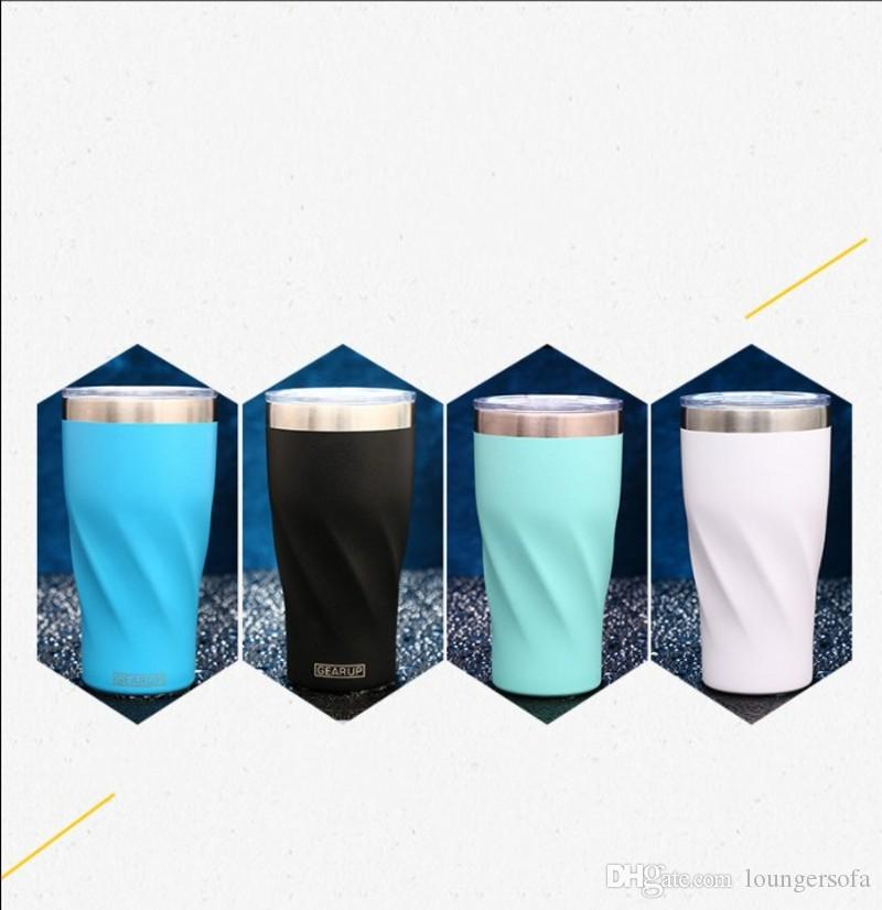 Stainless Steel Eco Friendly Vacuum Cup Pinkycolor Simplicity Baking Paint Leak Prevention High Capacity Water Cup Vehicle Portable 24hzI1