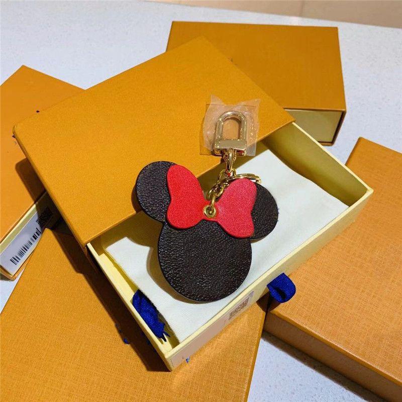 chaveiro nova moda venda quente bonito chaveiros rato carteira bolsa bolsa acessórios bolsa Tecla botão do nó anel titular