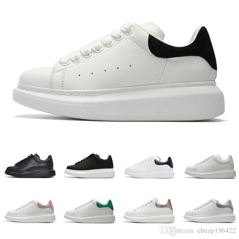 In pelle da uomo 2020 scarpa migliore qualità del progettista di moda di lusso delle donne Lace Up Platform Oversized Sole scarpe da ginnastica bianche nere Pattini casuali