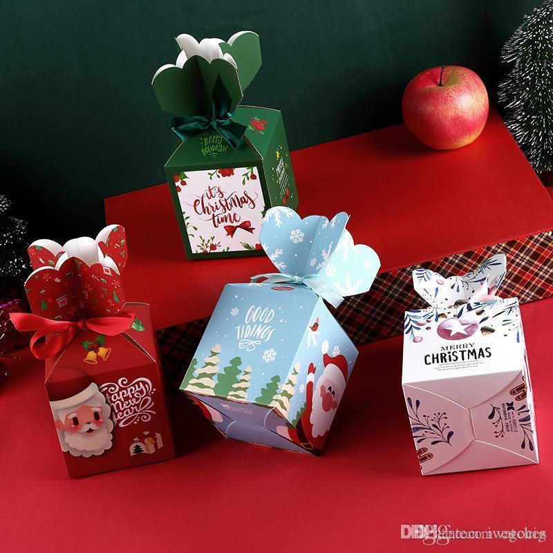 caja de embalaje de frutas festival de bricolaje caja de dulces de Navidad creativo pingan caja de papel de regalo de Navidad chocolate
