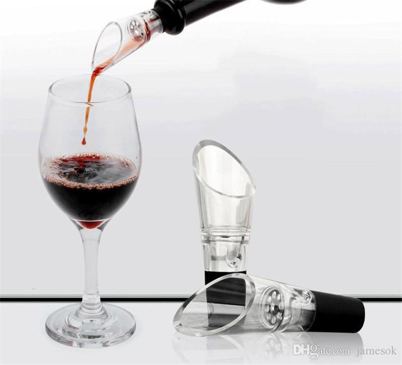 Mini Şarap Havalandırıcı Dekantör Şeffaf Kırmızı Şarap Havalandırıcılar Pourer Bacalı Decanter Şarap Pourer Bar Araçları dc702