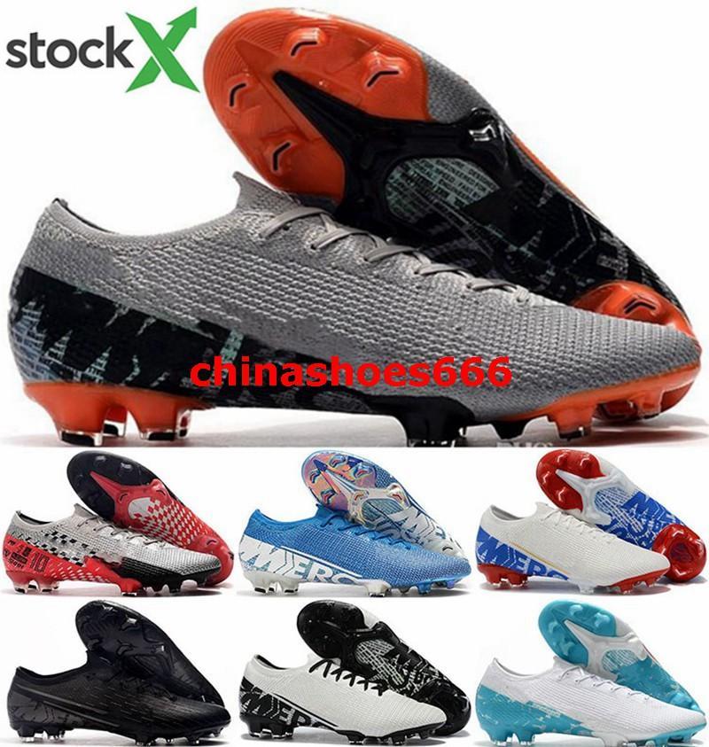 CR7 Mens ronaldo Nero EUR 46 dimensione us 12 XIII FG AG uomini bassi top scarpe Mercurial vapori 13 Elite bitte scarpe da calcio di calcio ramponi de