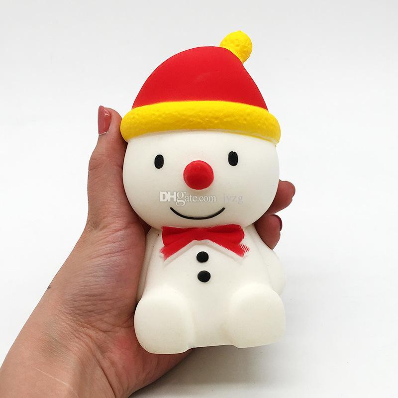 Squishy boneco de neve enorme 14 cm Lento Rising Soft Oversize Phone Squeeze brinquedos Pingente Anti Stress Kid Descompressão Dos Desenhos Animados brinquedo