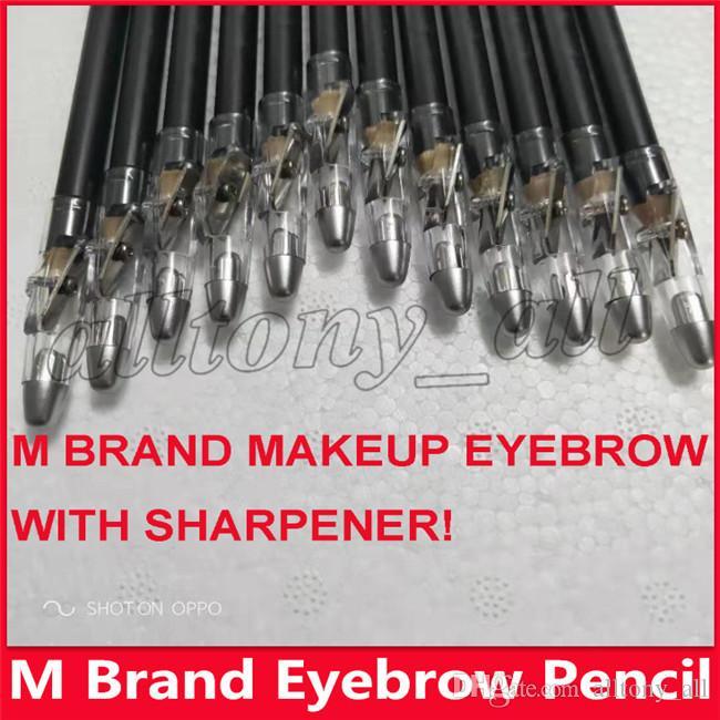 Crayon à sourcils de maquillage à l'oeil de marque Hot M avec crayon Eye-liner noir et brun au prix le plus bas