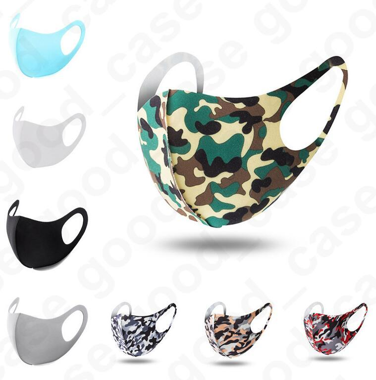 3D Camouflage cara máscaras protetoras Adultos Dustproof Anti-incrustantes à prova de poeira máscaras fumaça-lavável face respirável Máscaras D4903