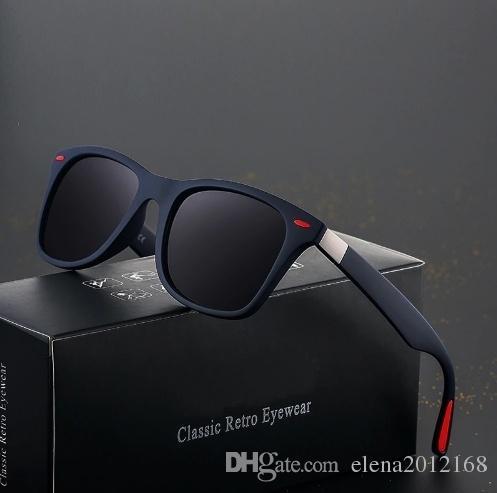 브랜드 디자인 클래식 편광 선글라스 남성 여성 운전 사각 프레임 태양 안경 남성 고글 UV400 Gafas 드 솔