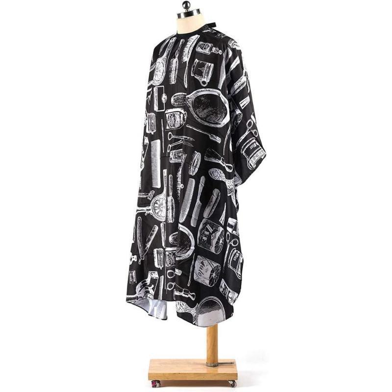 Черная ткань профессиональный парикмахерский салон нейлоновая шаль с защелкивающимся закрытием чистый черный интерфейс шарф ткань @40