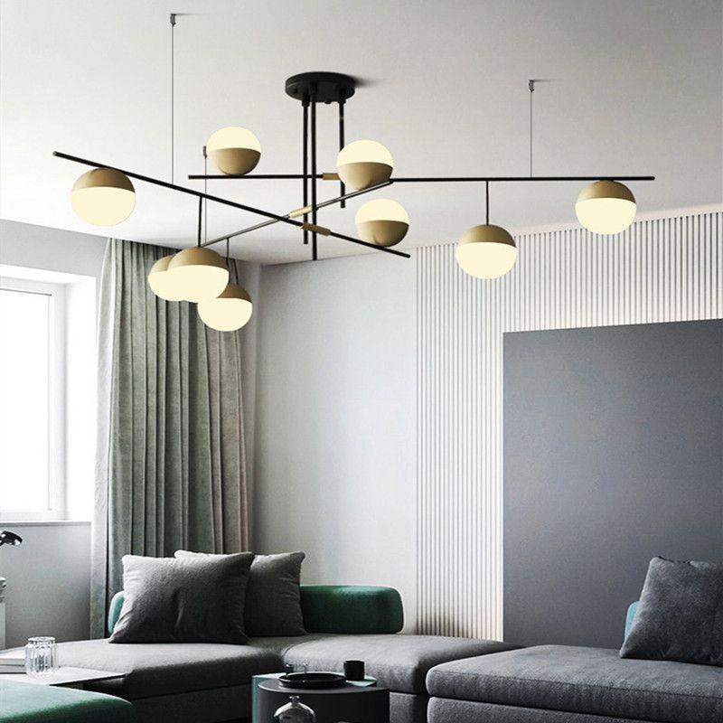 Modern led Işık Oturma Odası Avize Kişilik DiningRoom Mutfak Işık Yaratıcı Çalışma Modeli Odası Cam Avize Aydınlatma