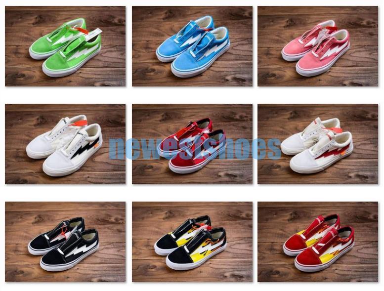 Zapatos Rosa Verde nueva venganza X tormenta Old School Ii Vol.1 Rojo Azul Negro Amarillo de lona para los hombres Las mujeres Kendall Jenner Ian Connor patín de las zapatillas de deporte