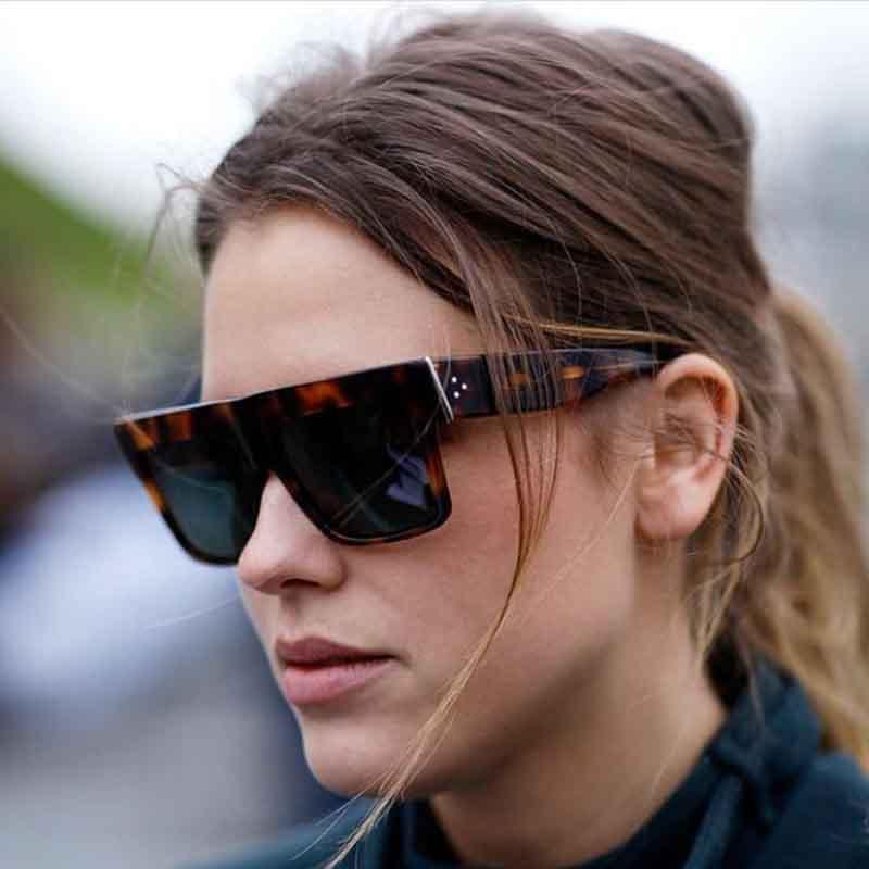 Occhiali da sole quadrati per sole donne occhiali di lusso-progettista punti decorazione delle donne chic vintage femmina sunnies occhiali di marca rivetto occhio ticuj