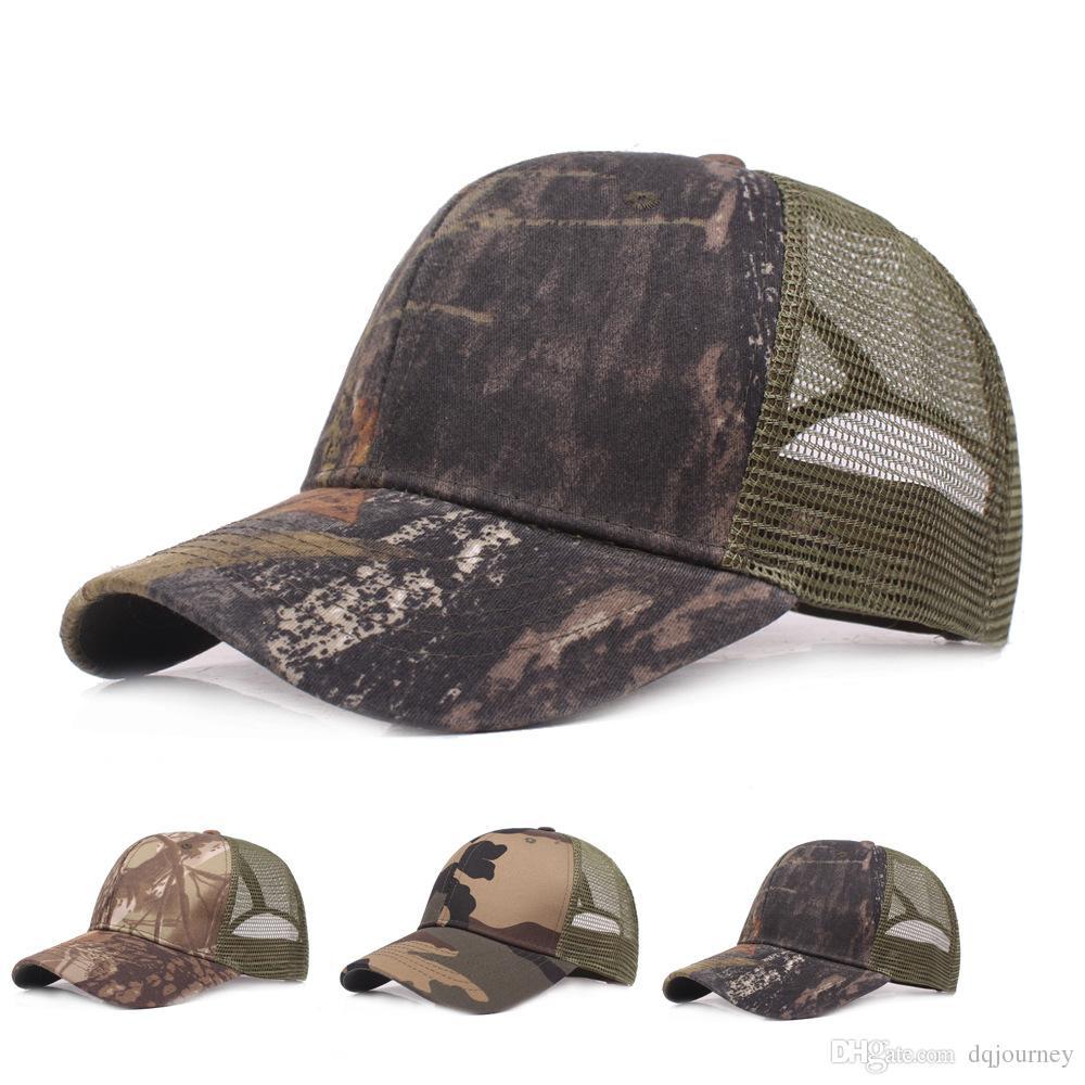 Unisexe Sun Jungle Cap Été Mesh Baseball Hat Respirant Léger Mesh Chapeaux Casquette Réglable Refroidissement Casquettes De Sport