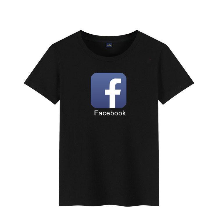los hombres la ropa de hombre y mujeres de la moda de verano 2019 de la manga corta de algodón juntan con te encima Facebook camiseta