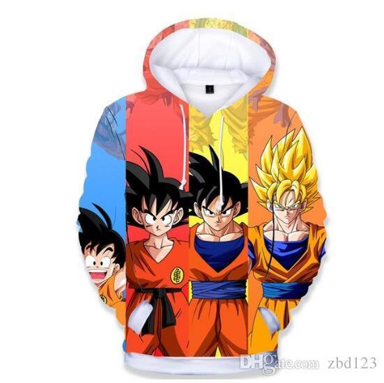Enfant 3D Sweat À Capuche Dragon Ball Z Sweatshirts Anime Mode Survêtements Décontractés Garçon Vestes À Capuche Pullover Enfants Hoodies