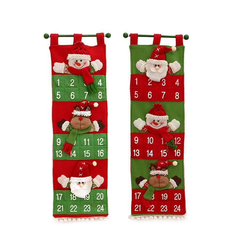 Yeni Lockscreen Takvim Noel Baba Kardan Adam Elk Asma Noel Takvim Kapı Duvar Pencere Dekoru Yılbaşı Hediye Parti Tedarik
