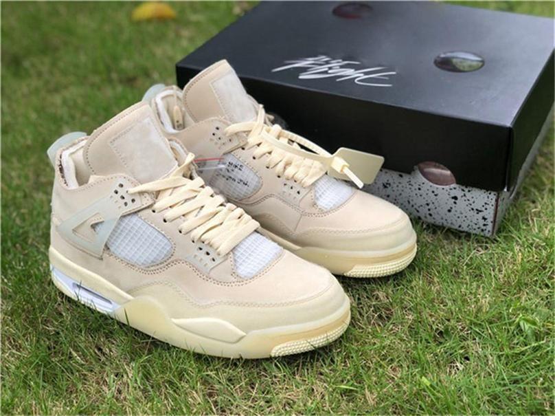 2020 Authentic 4 zapatos de baloncesto de los hombres SP WMNS de suelta sin muselina blanca Negro Zapatos de Vela Bred CV9388-100 Calzado deportivo auténticos con la caja