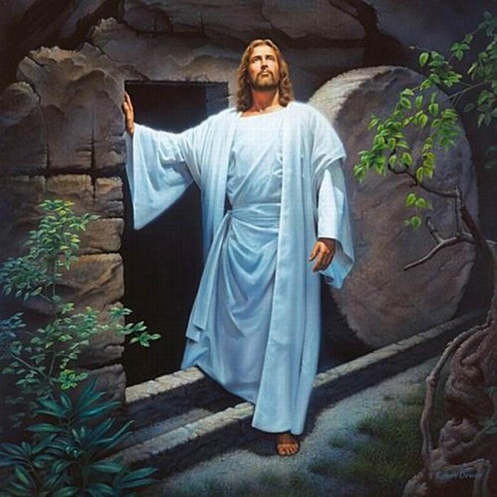 Xa038 # Simon Dewey VIVE Jesucristo resucitado de la tumba Decoración impresión de HD pintura al óleo sobre lienzo de arte cuadros de la pared 0110