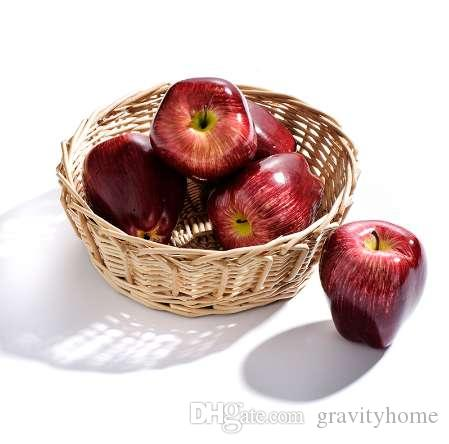 1Pc Artificial Red Delicious Apple Decorative Artificial Apples Teaching Aids Fruits Mini Artificial Fruits And Vegetables