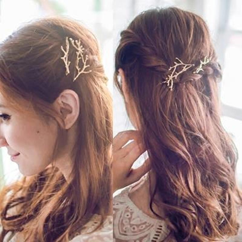 Art und Weise Frauen Haarnadel Vintage-Metall-Neuheit Baumaste Haarspangen Mädchen Haarspange Haarschmuck High Quality