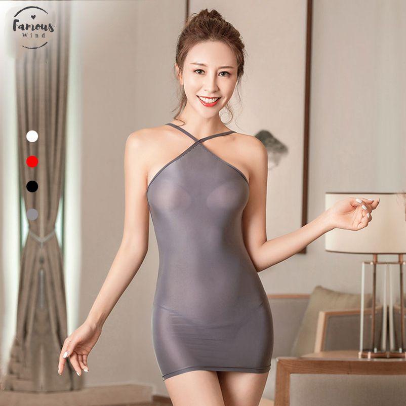 Mulheres Sensuais Strap Backless Lápis Apertado Vestido Giro Gelo Seda Suave Ver Através De Micro Mini-Ligadura Vestido Com Fio G F9
