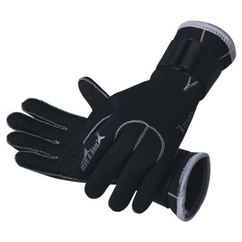 3MM Neoprene Diving Gloves Non-slip Winter Swimming Scuba Thermal Gloves