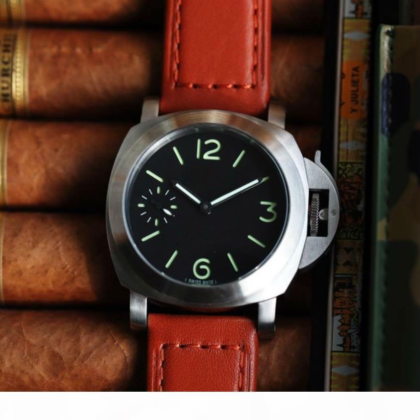 Relojes de cuero para hombre PAM00111 relojes automáticos de 47 mm PAM111